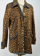Jones New York Signature Jacket Reversible Black Cheetah Jacket trench Coat PM