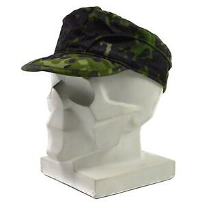 Genuine Danish Army field cap Military M84 Flecktarn Camo jungle summer hat