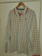 Lacoste Sport Mens Grey Long Sleeve Polo Shirt 8 XXL 2XL.