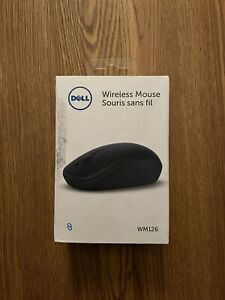 Dell WM126 Optical Wireless Mouse, Black
