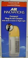 New Open Box Air Innovations Plug-In Ionizer Air Purifier with Light, Cream