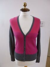 Apt 9 pur cachemire Reworked bicolore col V Cardigan Taille S