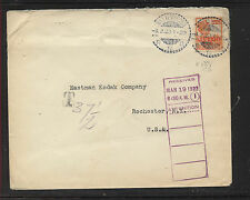 Netherlands  Indies   1922    cover to Eastman  Kodak  Co        MS0323