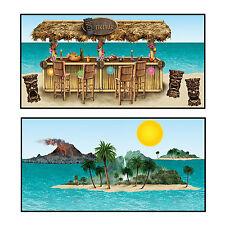 Cutouts Props Tiki Bar Island Plastic BE52002 beach hawaiian party Scene Setter