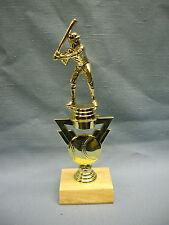 baseball riser with gold ball trophy wood base