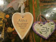 Aunt Gift Family russ plaque lot