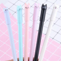 5Pcs Cute Cat Gel Pen Black Ink Pen Kawaii Stationery School Office.Supplie hE3R