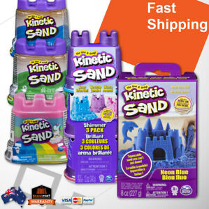 Kinetic Sand Kids Craft Kit Choose: Neon Shimmer Rainbow Pink Blue Green Purple