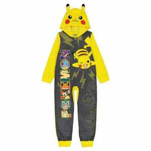 Pokemon Pikachu Kids Hooded Blanket Sleeper Pajamas