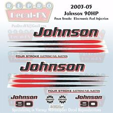 2003-05 Johnson 90 HP Four Stroke EFI Outboard Reproduction 17 Pc Vinyl Decals