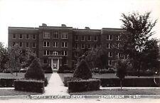 Le Mars Iowa~Long Pathway Past Hedges @ Sacred Heart Catholic Hospital RPPC 1945