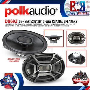 "Polk Audio DB692 6""x9"" 450W 3-Way Coaxial Speakers with Marine Certification"