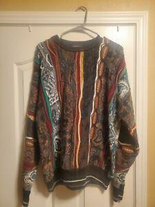 Alberto Danti Italian styled Sweater Bulgaria Coogi B.I.G Large VTG Ugly
