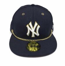 New York Yankees New Era Gold Chain 59FIFTY Fitted Cap Sz 7 3/8 (NEW) MSRP $50