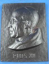 Buderus plaquita hierro hierro fundido relief Papa Pius XII