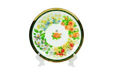 Decorative Plate with Hand painted Ceramic Plate Home Decor Flowers Plate.