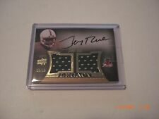 JERRY RICE DEVILS 2013 UD QUANTUM GAME USED DUAL JERSEY AUTO 5/15 SIGNED CARD