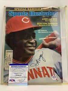 Joe Morgan Signed Sports Illustrated April 12,1976 PSA DNA AI36219