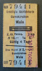 Eisenbahn Fahrkarte  1976  Gunskirchen - Wels