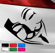 Máscara Anonymous Vendetta Etiqueta del vinilo Pegatina de Coche Van Bicicleta PC Laptop Gracioso Ventana