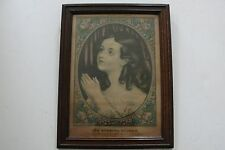 "1852 Hand Colored Print by  EB & EC Kellogg  ""The Evening Prayer"" Framed. RARE!"