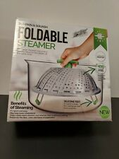 Fold-able Steamer by Pumpkin and Squash , Stainless Steel and Silicone