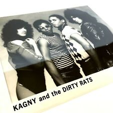 1983 Kagny and the Rats Motown Records black and white photo head resume shot