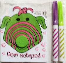 Fimbles Pom soft note pad with coloured pens, stationery, pre school, brand new