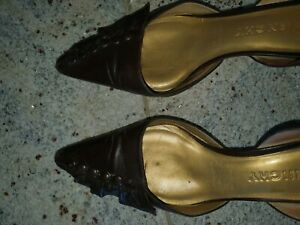 Givenchy brown leather kitten heels size 38