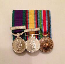 Court Mounted Miniature Medals, GSM Northern Ireland, Gulf War, UN Bosnia, Army