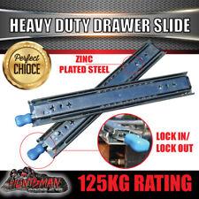 125kg Locking Drawer Slides 350 - 1000mm Heavy Duty Fridge runner full extension