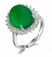 925 Sterling Silver Certified Emerald 7 Ct Handmade Ring For Her/Silver jewelry
