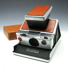 Vintage Polaroid SX-70 Brown Folding Instant Land Camera w/ Leather Case TESTED
