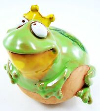 Garten Kugel Keramik Dekoration Figur Frosch König Handarbeit