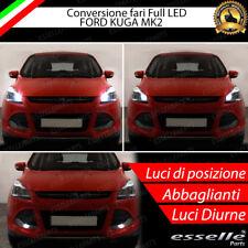 KIT LED LUCI DIURNE DRL H15 + POSIZIONE T10 W5W +  ABBAGLIANTI 6000K FORD KUGA 2