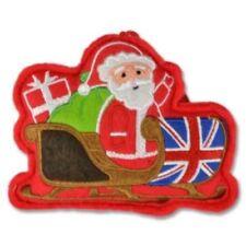 Elgate BRITISH UNION JACK SANTA Plush Christmas Tree Hanging Decoration Ornament