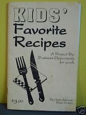 KIDS' FAVORITE RECIPIES.COOKBOOK,BUSINESS OPPORTUNITY FOR YOUTH