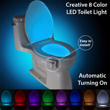 Toilet Seat Led Light with Motion Sensor Bathroom Wc Night Lamp 8 Colors