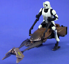 STAR WARS POTF DELUXE LOOSE IMPERIAL SPEEDER BIKE WITH EXCLUSIVE BIKER SCOUT.