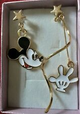 Disney Mickey Mouse Large Drop Earrings gold Christmas Comes with gift box 858