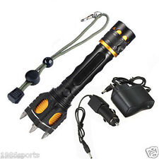 2200 Lumen UltraFire CREE XML T6 New LED Rechargeable Flashlight w/Charger  #45