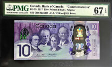 Canada 2017 Commemorative Polymer $10 BC-75 SUPERB GEM UNC PMG 67 EPQ