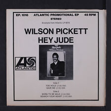 WILSON PICKETT: Hey Jude Ep (excerts From The Lp) 45 (PS w/ sl wear, dj only, s