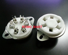1Pc 6pin U6A ceramic Vacuum tube socket for 310 366 Vt57 Vt58 1265