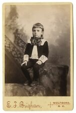 19th Century Children - Original 19th Century Cabinet Card Photo - Wolfboro, NH