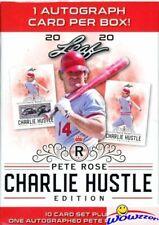 2020 Leaf PETE ROSE Charlie Hustle Edition Factory Sealed Box-Pete Rose AUTO !!