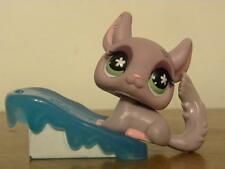Littlest Pet Shop LPS #630 Chinchilla with flower eyes