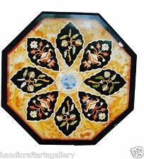 "24""x24"" Marble Countertops Table Top Marquetry Inlay Mosaic Arts Christmas Decor"