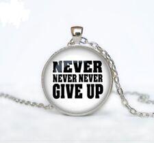 "necklace female men Free Gift Inspirational Survivor charm pendant Silver 20"""
