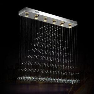 Crystal Chandelier Pendant lamp Ceiling Fixtures Rain Drop 1000 X 800mm 5 lights